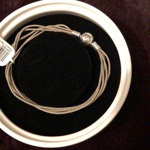 Pandora taupe multi strand bracelet